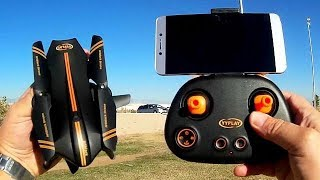YYPlay Jetblack Foldable 720p FPV Drone Flight Test Review