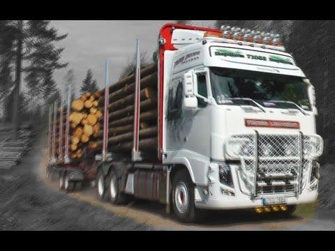 Timber truck loading - Sweden