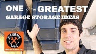 DIY Garage Overhead Storage