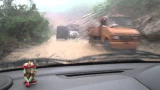 preview picture of video 'Way to Cherrapunji, World's highest rainfall area by my Chevy Spark... no compromise with weather'