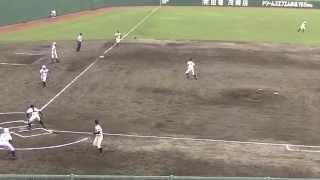 2015高校野球折尾愛真vs飯塚本塁クロスプレー