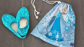 Turnbeutel nähen für Anfänger | Elsa & Anna | Frozen | Schritt für Schritt erklärt
