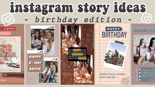 5 Creative Birthday Stories For Instagram | using the IG app ONLY | pt.2