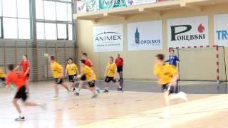 preview picture of video 'UKS Olimp Grodków vs M-GTS Siódemka Ozimek 38:10 (22:4) [HD]'