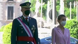 SS.MM. los Reyes presiden el acto con motivo del Día de las Fuerzas Armadas