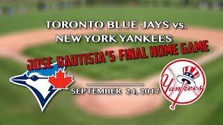 Jose Bautista's Final Game @ Roger's Centre, Toronto 9/24/17 - J&C Toronto