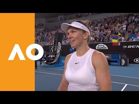 Simona Halep on-court interview (1R) | Australian Open