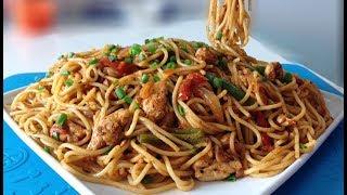 Desi Style Spaghetti | Easy Chicken Spaghetti Recipe