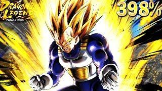398% SUPER VEGETA! INSTANTLY TOP TIER SPARKING | Dragon Ball Legends
