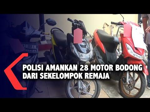 polisi amankan motor bodong dari sekelompok remaja