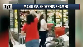 Maskless Shoppers KICKED OUT of Stores thumbnail