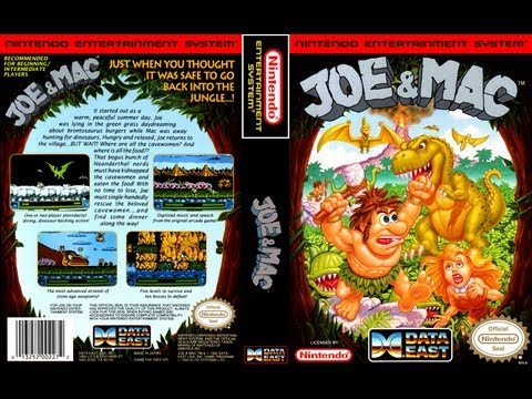 Joe & Mac NES Gameplay Longplay (Полное прохождение)
