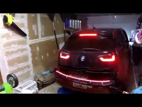 Sequential LED trunk light strip on a 2014 BMW i3 REx
