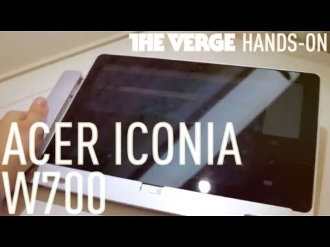 Acer Iconia W700 sous Windows 8