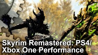 Skyrim Remastered PS4 vs Xbox One Gameplay Frame-Rate Test