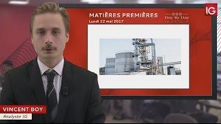 BRENT CRUDE OIL - Bourse - Cours du pétrole brut Brent, reprise de la hausse - IG 22.05.2017