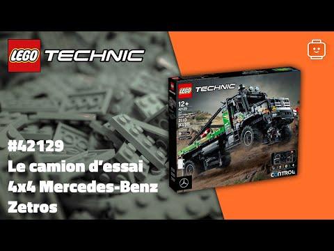 Vidéo LEGO Technic 42129 : Le camion d'essai 4x4 Mercedes-Benz Zetros
