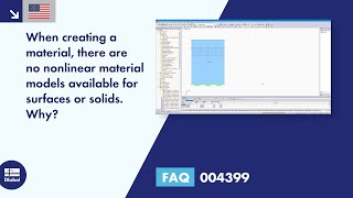 FAQ 004399 | When creating a material, there are no nonlinear material models available for surfaces or solids. Why?
