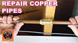 Repair Copper Pipe Leaks with SharkBites (Super EASY)