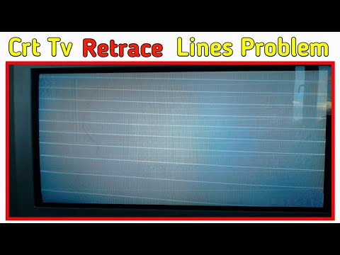 How To Repair Video Fault/ Horizontal Line Of CRT Color