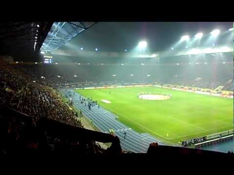 Metallist Kharkiv vs Sporting Lisbon. Before the game. Europa League. 1/4 final. 05.04.2012 видео