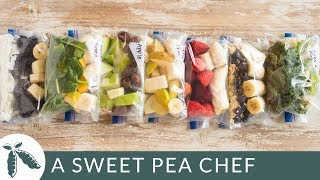 7 Smoothie Freezer Packs | How To Meal Prep | A Sweet Pea Chef