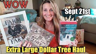 EXTRA LARGE Dollar Tree Haul + Quick Trip/ AMAZING Items sept 21st