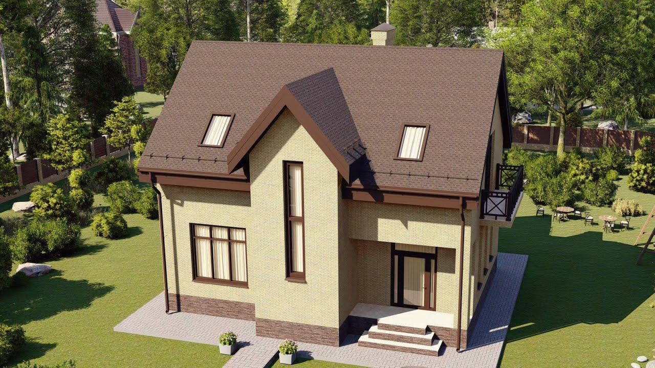 Проект мансардного дома из газобетона — СК Апрель