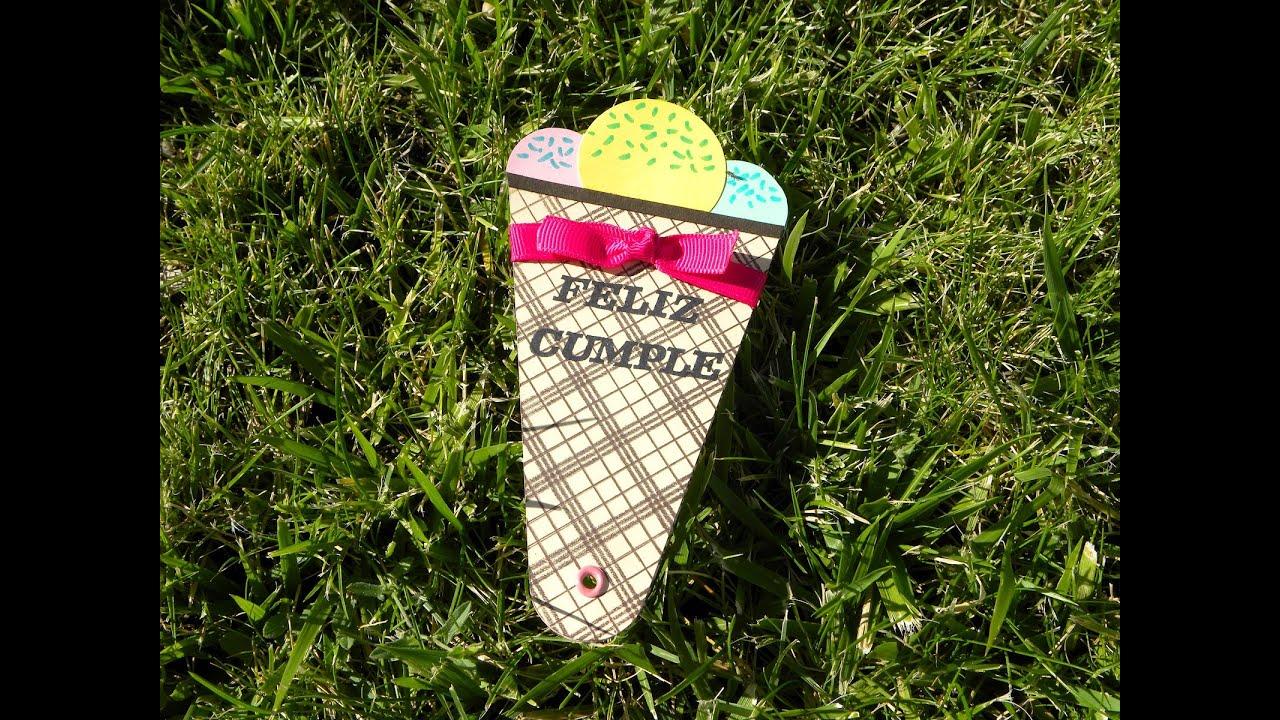 DIY: Ice cream fan - Abanico de helado
