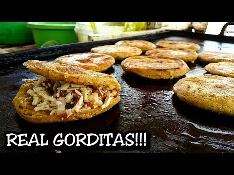 BEST Mexican Street Food - Gorditas And Migadas at a local street stand