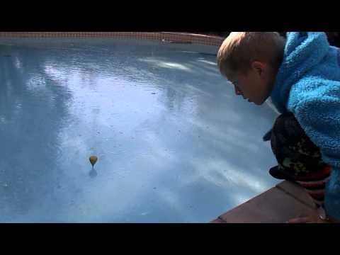 Top spin op swembad