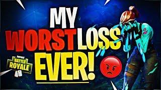 MY WORST LOSS EVER! (Fortnite Battle Royale)