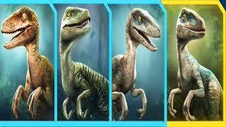 RAPTOR SQUAD (ECHO,DELTA,CHARLIE,BLUE) - Jurassic World Alive