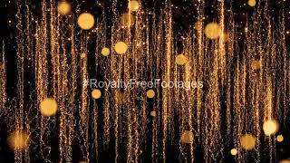 Christmas golden background loop | Christmas background video, Christmas background video loops free