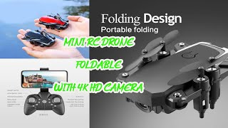 Mini RC drone with 4K 5MP HD Camera Foldable drones Altitude Hold D2 Pocket Profesional Quadcopter