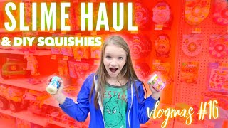 Vlogmas Day 16 SLIME SHOPPING HAUL & DIY SQUISHIES | Bryleigh Anne