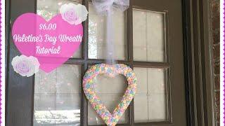 Deco Mesh Valentine S Day Wreath Dollar Tree