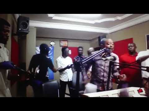 Owusu Bempah goes berserk, vandalizes Hot FM's studio [Video]
