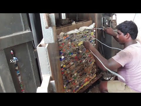 , title : 'Plastic Bottles crushing Machine Factory | Small Business Ideas Bottle Pressing Recycling process