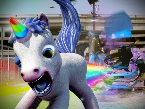 A Rainbow-Shitting Unicorn May Be The Greatest New Video Game Weapon