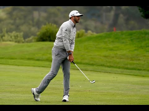 Dustin Johnson emerges from a pack to lead PGA Championship