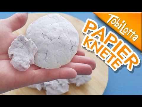 Papierknete DIY   Lufttrocknende Modelliermasse selber machen   Kinderkanal Tobilottarium 43 *BASICS