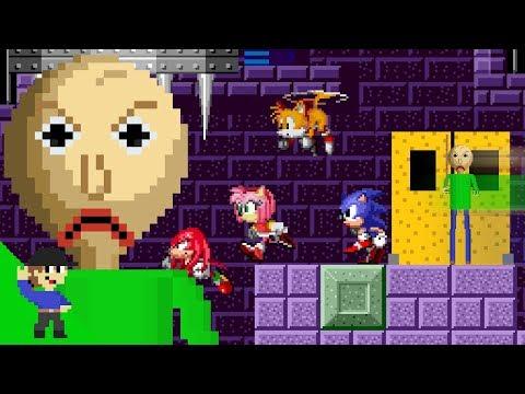Baldi would be OP in Sonic The Hedgehog