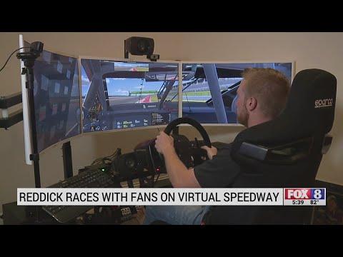 NASCAR driver Tyler Reddick races against fans in online race