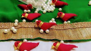 Saree Kuchu 56 !! Fabric Bird Tassel Saree Pallu !! Bird Beads Make At Home !! How To Make Bird DIY