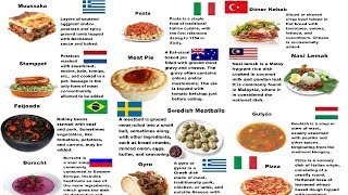 Countries And Their National Dishes - Part 2