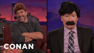 Javier Bardem & Conan Swap Hair  - CONAN on TBS
