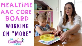 Modeling How To Use More During Meal Time With A Communication Board