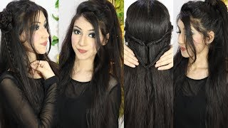 New Beautiful Easy Hairstyle For Party Or Wedding   Long Hairstyles For Girls