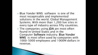 Blue Yonder WMS training by real time Consultants